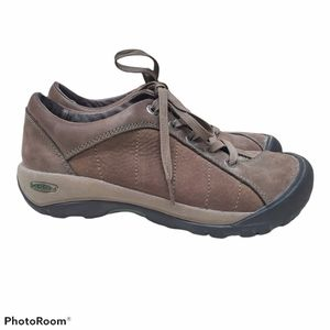 KEEN Women's 6 Presidio Brown Leather Walk Shoe